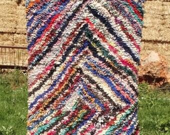 Tapis Boucherouite | Boucherouite | tapis | tapis berbère | Teppich | tapis géométriques | Tapis marocain | tapis coloré