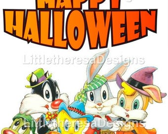 Baby Looney  Tunes Halloween Iron On Transfer
