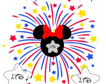 Minnie 4th Of July Iron On Transfer