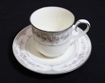 Noritake Shenandoah Teacup and Saucer - Fine China - Japan - 9729