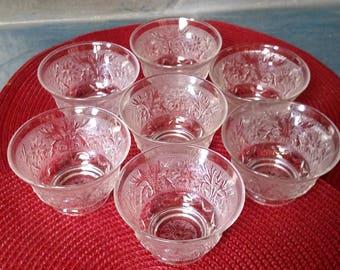 Clear Cut Glass Dessert Cups/Bowls