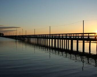 Landscape photography, Prints, Landbryggan Pier, Rattvik, Lakes, Sweden, Sunset, Beautiful views, Home decor, Yellow, Unique, Wall Art, Mood