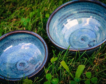 Set of Two Small Stoneware Nesting Bowls