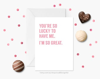Funny Mothers Day Card, Anniversary Card, Funny Valentine Card, Card for Her, Card for Him, Valentines Card, Funny Greeting Card GCLACA6015