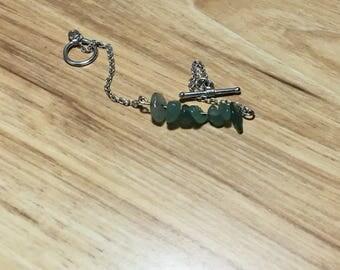 Handmade beaded dainty bracelet or necklace