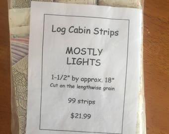Mostly Lights Log Cabin Strips
