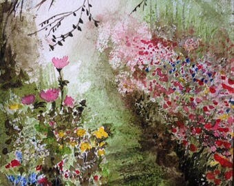 Cottage Garden Watercolour