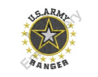 Ranger - Machine Embroidery Design, US Army Ranger