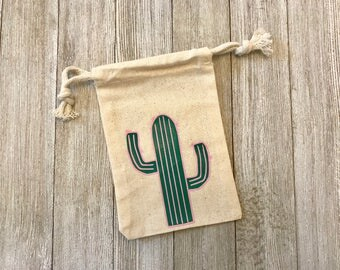 Cactus-Muslin Bags-Cotton Bags-Favors-Summer-Gifts