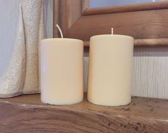 Soy wax , pillar candle 130mm tall