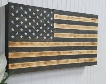 American Flag Usa Concealment Furniture Compartment Cabinet Secret Hidden  Gun Rack Tactical Stroage Safe Protection Case