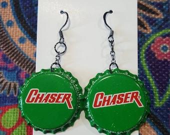 Chaser Bottle Cap Earring