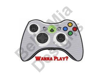 Wanna Play Xbox - Machine Embroidery Design