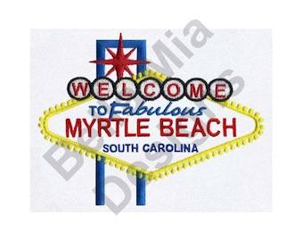 Myrtle Beach - Machine Embroidery Design, Myrtle Beach South Carolina
