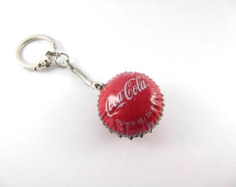 Keychain with bottle caps