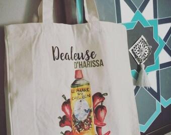 """tote bag or Tote """"harissa dealer"""""""