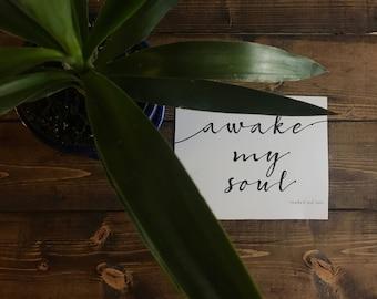 Lyric Poster - Mumford and Sons - Awake My Soul