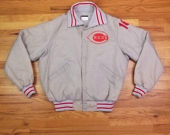 Vintage 80s Cincinnati Reds Jacket Size Large L
