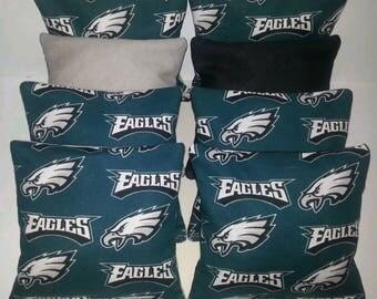 Set Of 8 Philedelphia Eagles Cornhole Bean Bags FREE SHIPPING