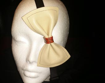 Hand made Leather bow tie