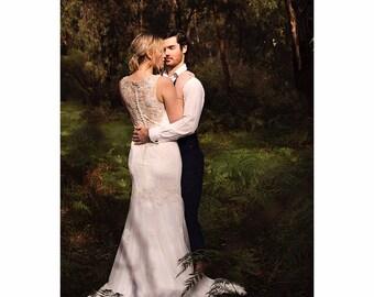 bohemian wedding dress - The Rose