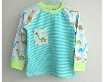 Long-sleeved shirt, size 104,Dinosaurier