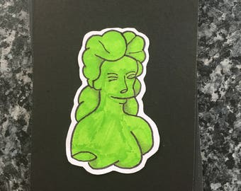 The Simpsons gummi Venus di Milo handmade custom design framed 6x4 backed on black card