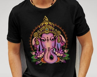 Mens Hindu God Ganesh - Black T-shirt