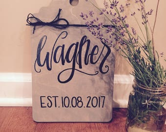 Custom Hand Lettered Wood Sign