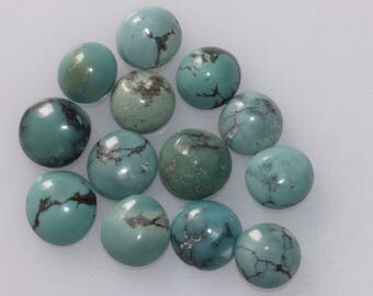 7 MM Natural Round Turquoise Cabochon Gemstone AAA High Quality Gemstones