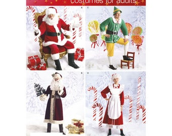 Simplicity 2542 - MISSES & MENS Christmas Holiday Costumes / Size L, XL