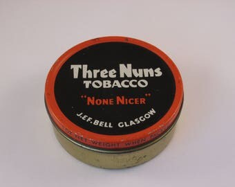 Collectible Three Nuns Vintage Tobacco Tin Tobacciana