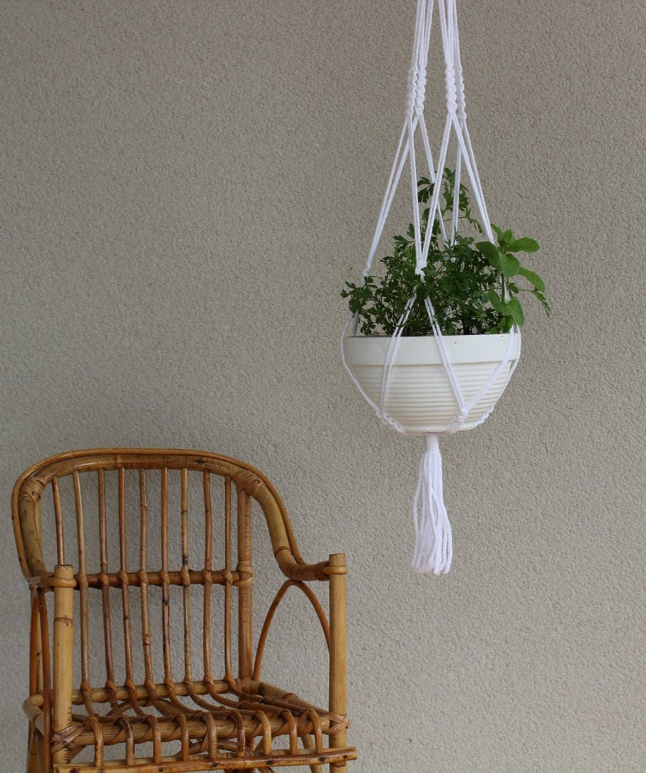 Kit diy faire soi m me suspension pour plante en macram - Faire macrame suspension ...