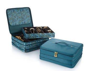 "Joy Mangano ""Jewel Kit Duo"" 2-Tier Jewelry Box"