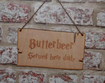 Buttebeer sold here Harry Potter inspired wall sign