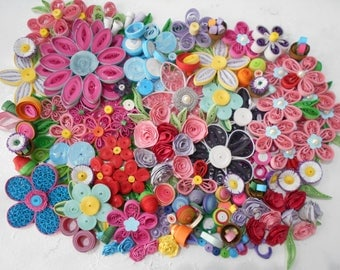 Quilling Flower Collage