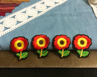 Tiny sunflower patch,embroidered patch,iron on patch,jacket patch,hat patch,shoes patch, DIY