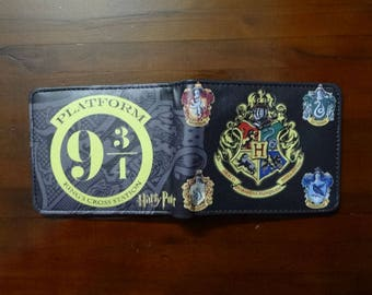 Harry potter wallet, purse, potter fan, harry, snitch, hogwarts wallet