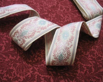 Vintage French Embroidered  Ribbon Braid 1.9 meters