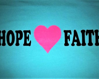 Hope Heart Love Faith White Shirt Only Small - 5XL Prison Freedom Hope Success