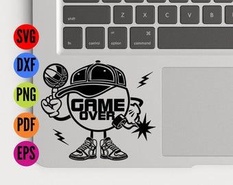 Basketball Bomber SVG, Game Over Svg, Soccer Svg, Footballer SVG, Sporty Svg, Funny SVG, Dxf, Png, Vector, Silhouette, Cameo, Cutting File