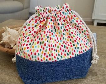 Knitting Project Bag, Sock Project Bag, Crochet Project Bag, Gift Bag