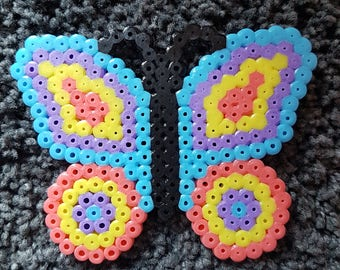 Butterfly hama bead magnet