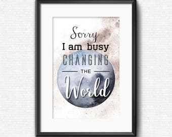 Changing the World Poster