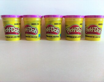 5 Set Purple Play-Doh Modeling Compound 4oz New Sealed Playdough Craft Supplies Supply Lot