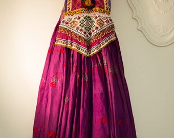 rare vintage dress kuchi in silk