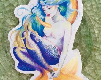 Blue Mermaid Sticker