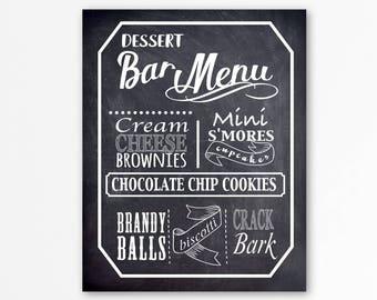 dessert menu etsy. Black Bedroom Furniture Sets. Home Design Ideas