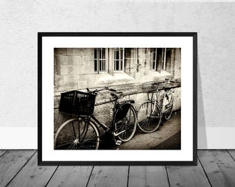 Oxford Art Print, Oxford Photography, Bicycles Oxford, Bicycle Art Print, Oxford University, Bicycle Photograph, Home Décor, Graduation Gift