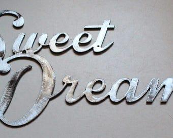 Sweet Dreams Metal Wall Art Decor Accent